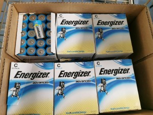 Batterier, Energizer type C, 17 stk 20packs, totalt 340stk, dato 2025/2026