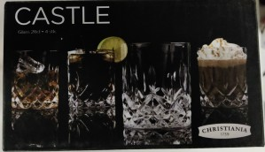 Christiania 1739 Castle glass 28cl 4 stk
