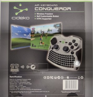 Cideko Air Keyboard Conqueror AK08 for PC/PS3, 1 stykk