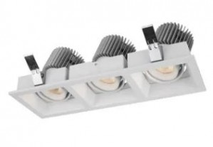 LED Down Light (R3B0233) 3 spot fra Vellnice, hvit, L213*B70mm, 3000K,2 stykk