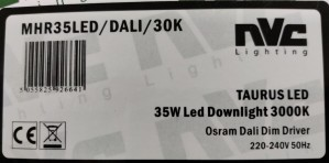 Taurus Led 35 W Led Downlight 3000K fra NVC Lighting