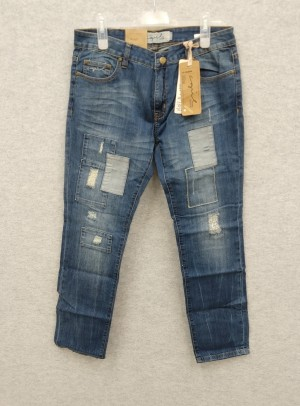 Denimbukse Selena patch jeans, str 30/32 og 29/32, 2 stk