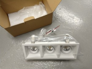 LED Recessed downlight, 3x7W - LT Lighting