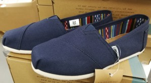 3 par Tom's Classic Navy Canvas damesko, str. 36,5, 37,5 og 38