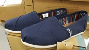 2 par Tom's Classic Navy Canvas damesko, str. 37,5 og 38