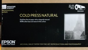 1 rull - EPSON Cold Press Natural- 24in x 50ft - Printerpapir/media