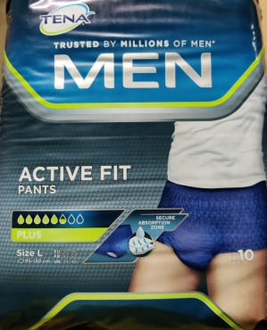 4 pk TENA MEN Active Fit Pants - Size L