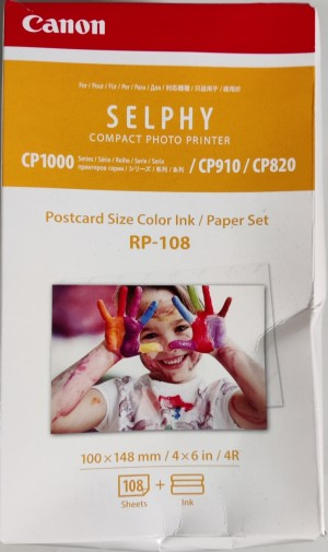 Canon RP-108 Color Ink Paper Set for Selphy