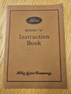 A-Ford, Original instruksjonsbok for Model A på engelsk, 1931 Ford Motor Company