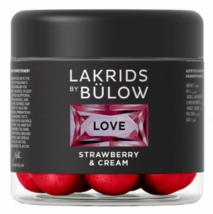 Lakris - LOVE Strawberry & Cream 125g (10 bokser)