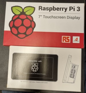 Raspberry Pi 7toms touchskjerm og casing for Raspberry Pi 3